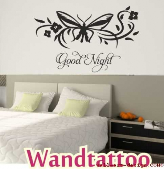 Good Night Wandaufkleber