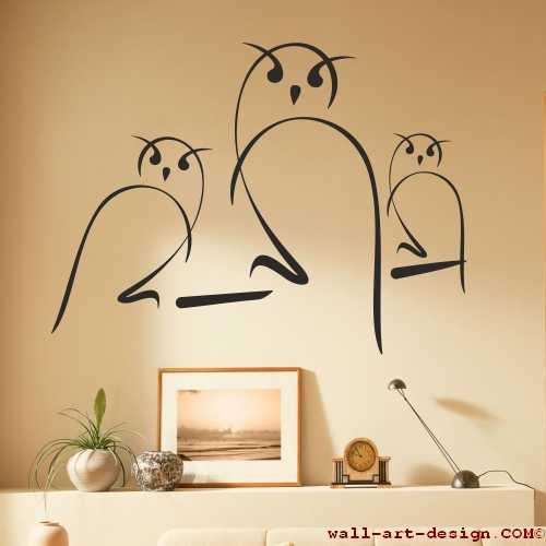 wandtattoo online shop f r preiswerte wandtattoos eulen wandaufkleber. Black Bedroom Furniture Sets. Home Design Ideas
