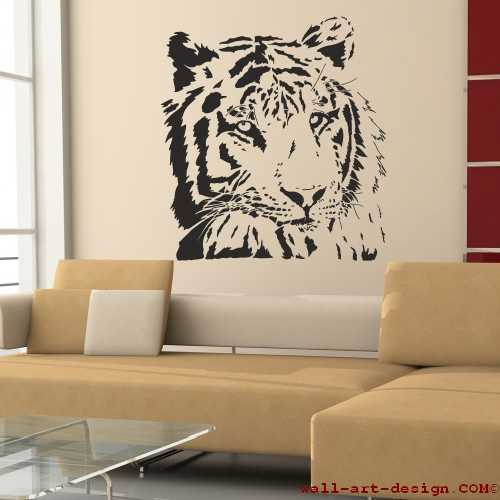 wandtattoo online shop f r preiswerte wandtattoos tigerkopf wandaufkleber. Black Bedroom Furniture Sets. Home Design Ideas