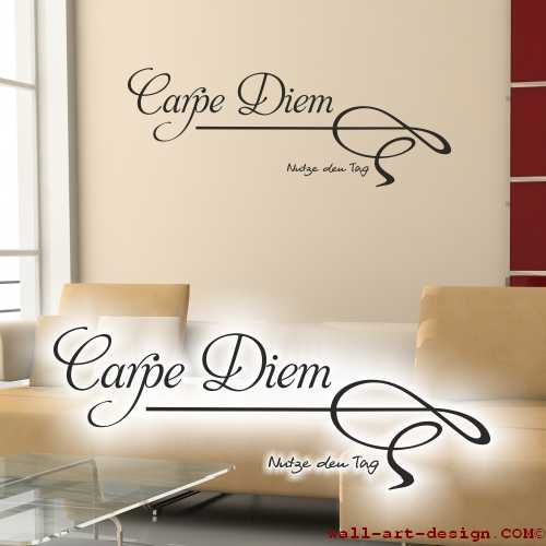 wandtattoo online shop f r preiswerte wandtattoos wandtattoo carpe diem. Black Bedroom Furniture Sets. Home Design Ideas