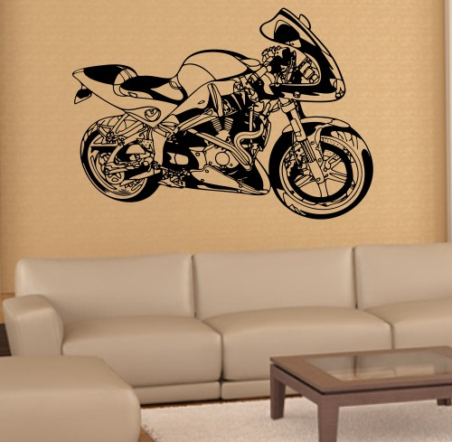 Wandtattoo online shop f r preiswerte wandtattoos motorrad street fight bike - Motorrad wandtattoo ...