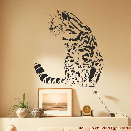 wandtattoo online shop f r preiswerte wandtattoos katze tiger cat kater wandtattoo. Black Bedroom Furniture Sets. Home Design Ideas