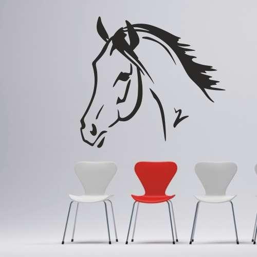 wandtattoo online shop f r preiswerte wandtattoos pferdekopf pferd mustang wandtattoo. Black Bedroom Furniture Sets. Home Design Ideas