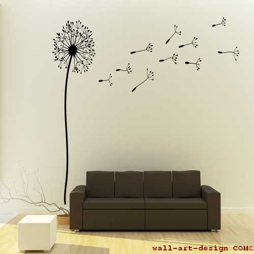 wandtattoo online shop f r preiswerte wandtattoos pusteblume l wenzahn wandtattoo. Black Bedroom Furniture Sets. Home Design Ideas