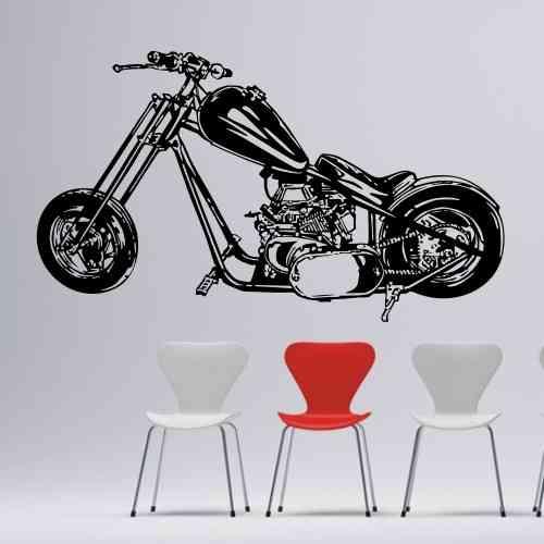 Wandtattoo online shop f r preiswerte wandtattoos cooler chopper motorrad wandtattoo - Motorrad wandtattoo ...
