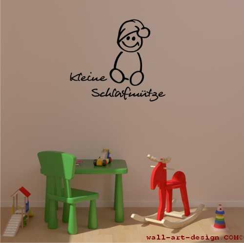wandtattoo online shop f r preiswerte wandtattoos kleine schlafm tze wandaufkleber. Black Bedroom Furniture Sets. Home Design Ideas