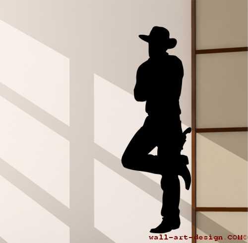Wandtattoo online shop f r preiswerte wandtattoos cowboy wandtattoo - Wandtattoo cowboy ...
