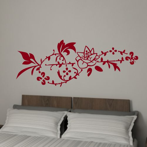 wandtattoo online shop f r preiswerte wandtattoos blumen ranke schlafzimmer. Black Bedroom Furniture Sets. Home Design Ideas