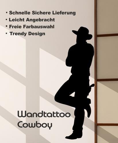 Wandtattoo online shop f r preiswerte wandtattoos - Wandtattoo cowboy ...
