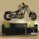 Motorrad Flame Shopper Bike Wandtattoo